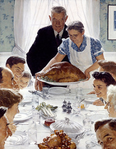 Norman Rockwell. Freedom from Want, 1942. Lent by the Norman Rockwell Museum, Norman Rockwell Art Collection Trust. © SEPS by Curtis Licensing. All rights reserved.