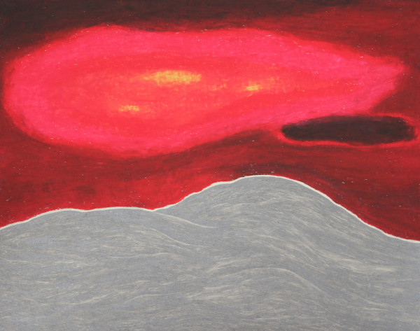 Robyn O'Neil, The Sky in Kerala, 2013. Oil pastel and graphite on paper, 11 ¾ x 15 inches