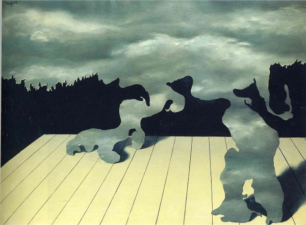 """René Magritte (Belgian, 1898–1967) Les Muscles célestes The Muscles of the Sky Paris, 1927 Oil on canvas 21 1/4 x 28 3/4"""" (54 x 73 cm) Deposited with the Magritte Museum, Brussels"""