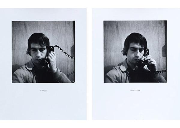 William Wegman, Mistake/Correction, 1975/2011, two silver gelatin prints, courtesy Texas Gallery