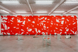 Arturo Herrera, Adam 2012. Wall painting. Dimensions variable. Image copyright of the artist and Sikkema Jenkins & Co.