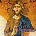 Christ Pantocrator - XIIIth c.   Detail of a mosaic icon of the Deisis. Hagia Sophia, Constantinople