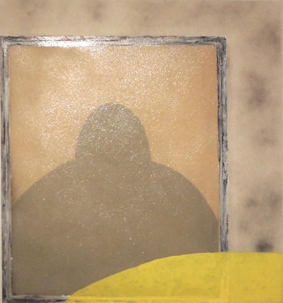 """HALP, 2013 Acrylic, oil, resin, spaypaint on canvas, 32""""x35"""""""