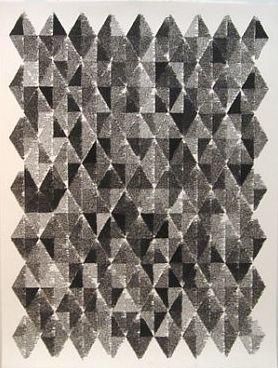"""John Adelman Fluid, 2013 Gel ink on paper, 52x 39"""""""