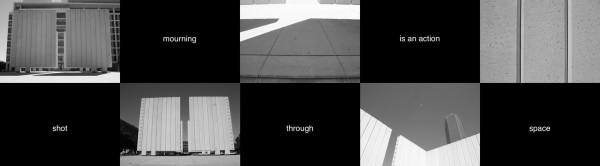 Noah Simblist, Cenotaph,2013. 80 slides, 35mm projector, stool