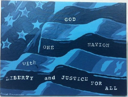 """Untitled painting by George Zimmerman, 18 x 24"""""""
