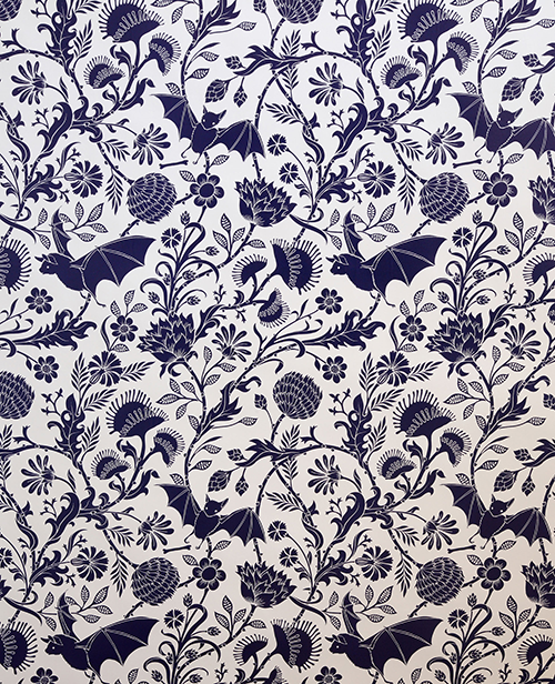 Designed by Dan Funderburgh, Elysian Fields, designed 2008, printed wallpaper, produced by Flavor Paper, est. 2003, the Museum of Fine Arts, Houston, Museum purchase funded by Dena Woodall and Skip Fowler. © Flavor Paper by Dan Funderburgh. Image © Flavor Paper