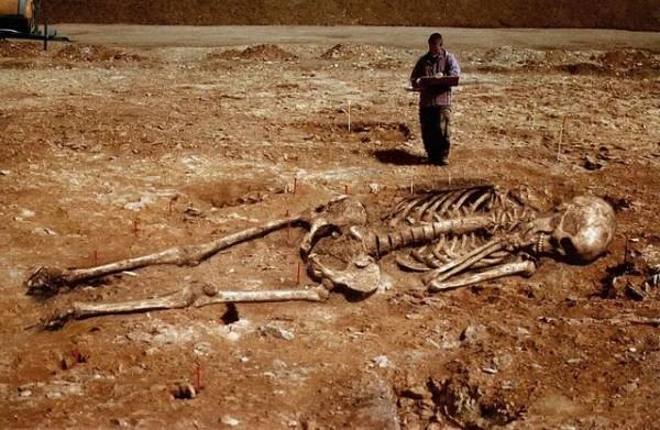 Goliath fake skeleton