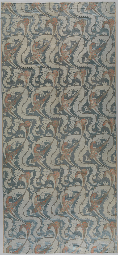 Length of Bizarre Silk. France or Italy, 1700-1710. Silk satin, brocaded, silk and metal-wrapped metal, 97 x 43 in. (246.4 x 109.2 cm), The Metropolitan Museum of Art, Rogers Fund, 1964