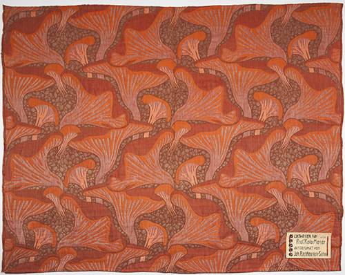 Koloman Moser, Schwämme (Mushrooms), design no. 4003, 1899, execution: Johann Backhausen & Söhne, Vienna, wool, silk, and cotton, MAK–Austrian Museum for Applied Arts / Contemporary Art, Vienna. Photo: © MAK / Katrin Wisskirchen