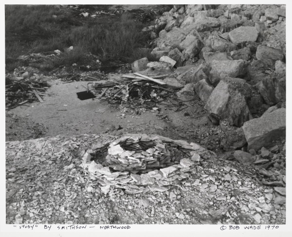 "Robert Wade, Robert Smithson Maquette for ""Texas Overflow,1970. Photograph, Photo courtesy of Robert Wade, Austin, Texas"
