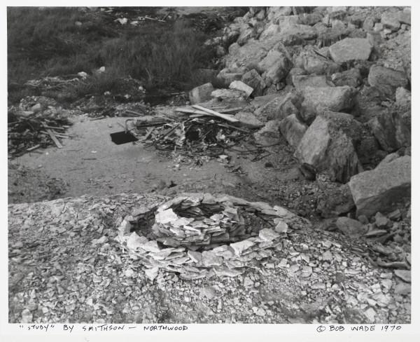 "Robert Wade, Robert Smithson Maquette for ""Texas Overflow,1970. Photograph, Photo courtesy of Robert Wade, Austin, Texas"