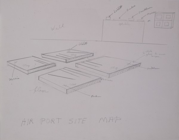 Robert Smithson, Airport Site Map, c. 1967. Pencil on paper, Collection of the Modern Art Museum of Fort Worth