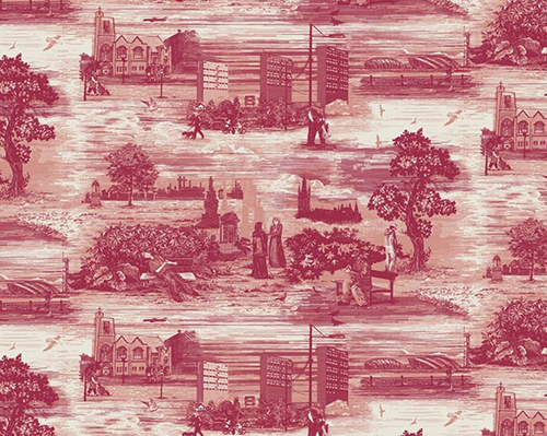 Timorous Beasties, Glasgow Toile, designed 2005, printed wallpaper, the Museum of Fine Arts, Houston, Museum purchase funded by Leo and Karin Shipman. Photo © Timorous Beasties