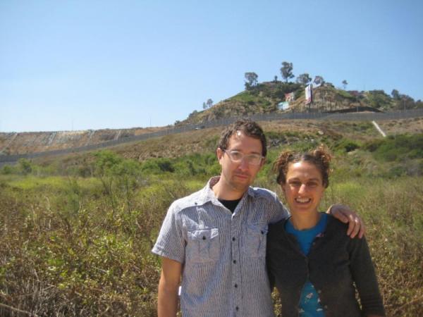 Antena at the border fence between Tijuana and San Ysidro.