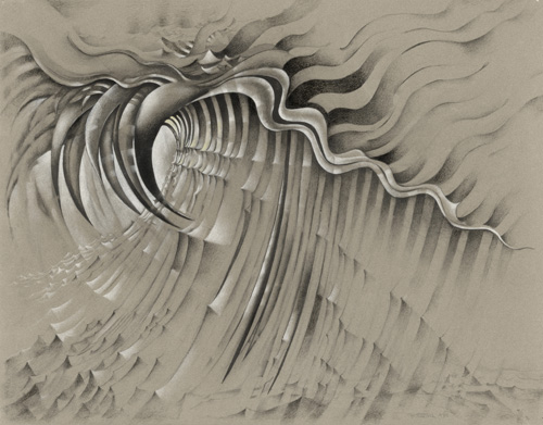 "Untitled. 1985. Charcoal, pencil, and colored pencil on colored paper, 22 x 30"" (55.9 x 76.2 cm). The Judith Rothschild Foundation Contemporary Drawings Collection Gift."
