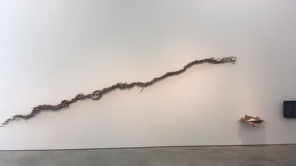 Miguel Angel Rojas, Por Pan, 2013. Braided grass (Agrostis Perenans), recovered from 17th century colonial construction, dimensions variable.