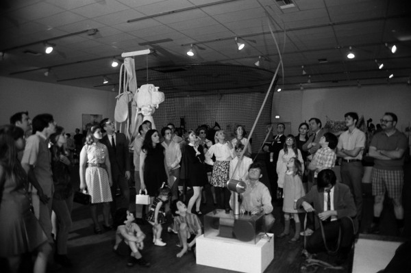 """Opening of the exhibition """"The Machine as Seen at the End of the Mechanical Age,"""" 1970."""