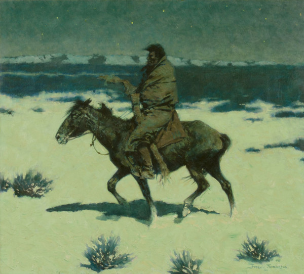 The Luckless Hunter, 1909, oil on canvas, 26 7/8 x 28 7/8 inches, Sid Richardson Museum, Fort Worth