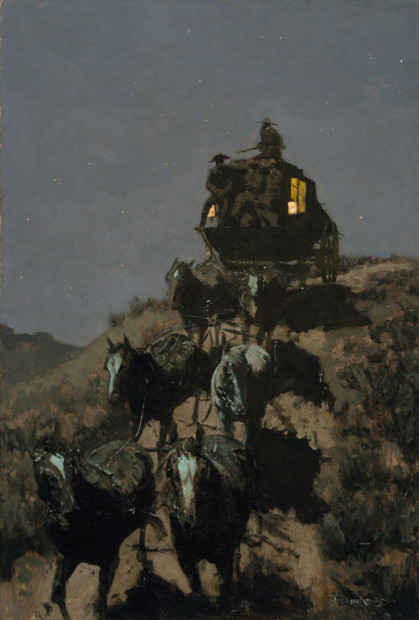 Frederic Remington, The Old Stage-Coach of the Plains, 1901, Oil on canvas, Amon Carter Museum of American Art, Fort Worth, Texas
