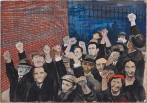 Ben Shahn, Demonstration, 1933. Harvard Art Museums/Fogg Museum, Richard Norton Memorial Fund, 2011.12
