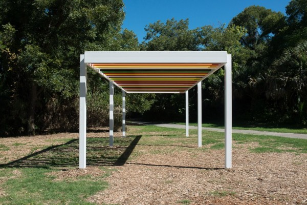 Liam Gillick, Raised Laguna Discussion Platform (Job #1073), 2013. Painted steel
