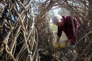 Patrick Dougherty's big twig installation (Photo: James Nielsen/Houston Chronicle)