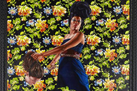 """A painting from Kehinde Wiley's """"Economy of Grace."""""""