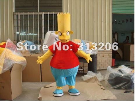 Demonic looking Bart Simpson