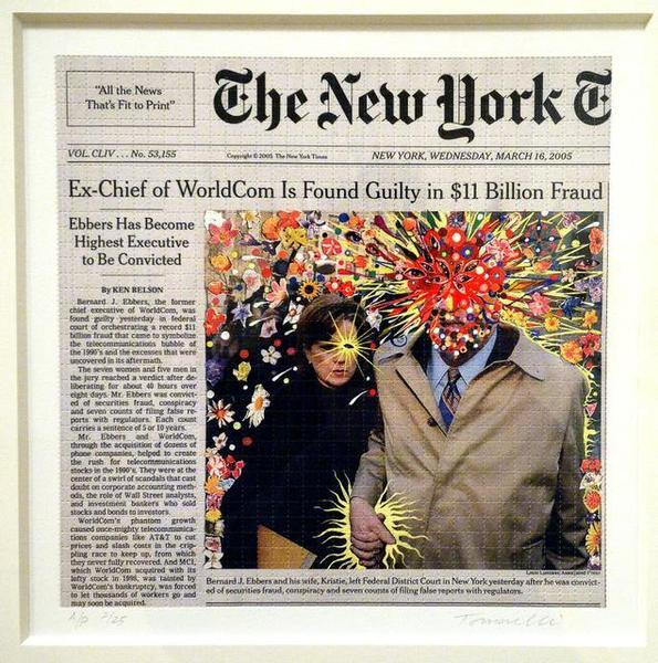 Fred Tomaselli, Guilty, 2005. Print 13 x 13 inches