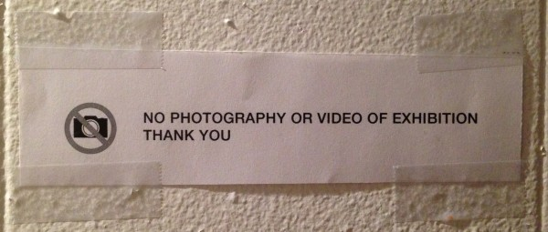no photography
