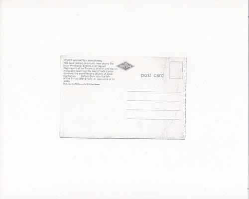 Postcard, 2013. Graphite on paper, 8-5/8 x 10-5/8 inches