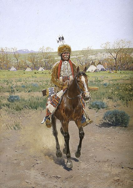 Henry Farny.  Sioux Indian, 1898.  Photographic reproduction from Wikicommons.