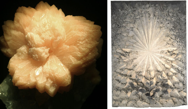 (l) Stilbite, Maharashtra, India (r) Jay DeFeo, The Rose, 1958–66