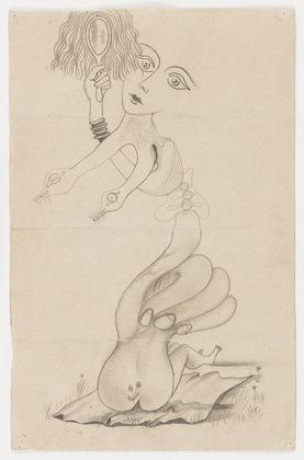 4-part Corpse drawing; Man Ray, Yves Tanguy, Joan Miro, Max Morise.