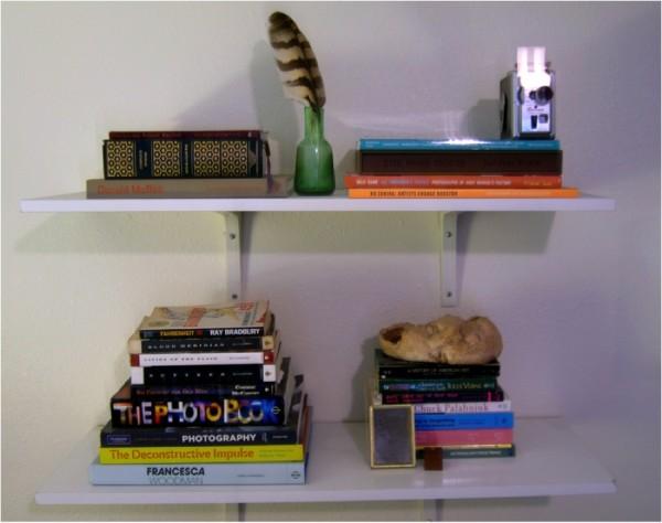 Peacock's carefully curated shelf