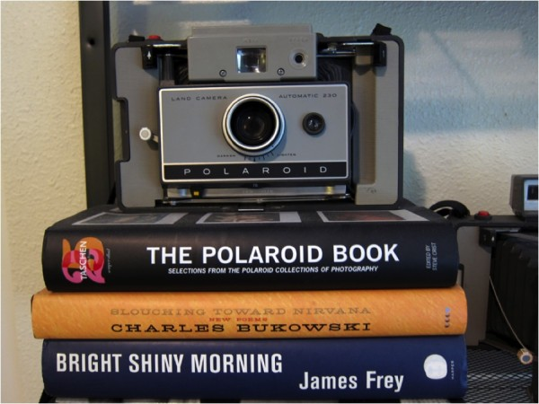Bukowski and a Polaroid camera