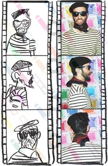 Aron Taylor, an 'Artists Anonymous' participant and performance artist who runs Quick Draw Photo Booth.
