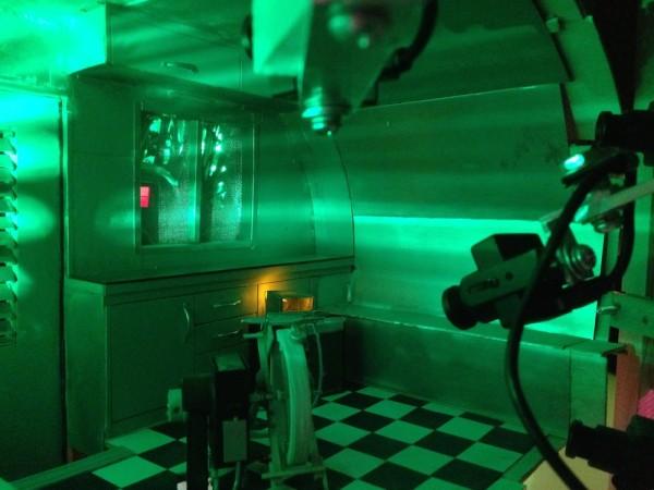 Trailer mechanism, interior, (note camera)