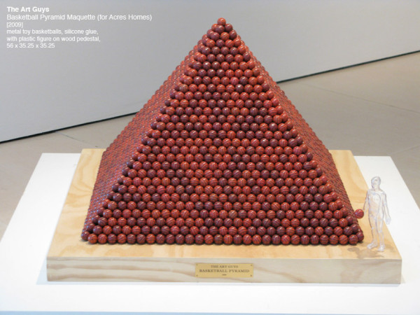 The Art Guys, Basketball Pyramid Maquette (for Acres Homes), 2009
