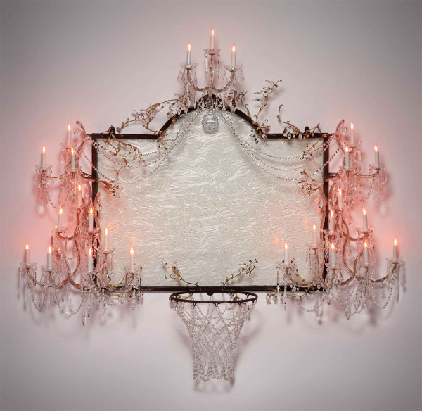 david-hammons-basketball-chandelier