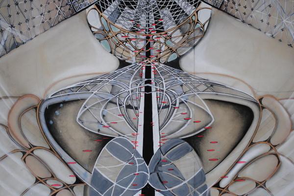 Operetta Inside Atom, 2008 (detail). Graphite, Goache, pastel, and conté on paper, 120 x 132 inches.