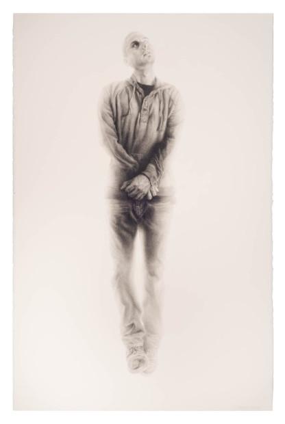 Vincent Valdez, The Strangest Fruit (2), 2014, graphite on paper, 40x26 in.