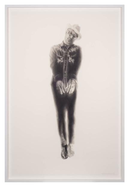 Vincent Valdez, The Strangest Fruit (4), 2014, graphite on paper, 40x26 in.