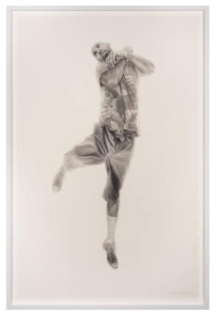 Vincent Valdez, The Strangest Fruit (5), 2014, graphite on paper, 40x26 in.