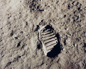 """Standing On The Moon"" exhibition at the Pearl Fincher Museum of Fine Arts. Image source: NASA"