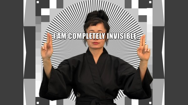 Video still from Hito Steyerl, How Not to Be Seen: a Fucking Didactic Educational .Mov, 2013.