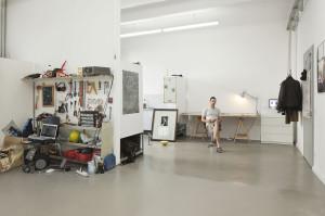 Artist digs at Künstlerhaus (Photo: Georg Schroeder)