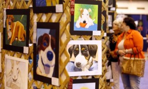 Student art at the Dog Show, Photo By Melissa Phillip/Houston Chronicle