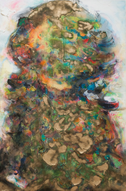 Geoff Hippenstiel,<em>Murder Ballad</em>, 2013, oil on canvas, 10 x 6.5'